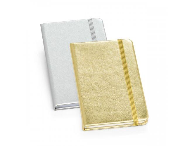 Moleskine de couro sintético Dourado / Prateado